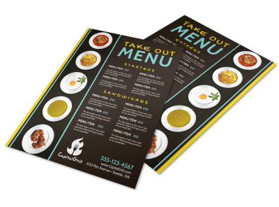 Cool Take Out Menu Template preview