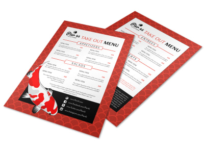 Seafood Take Out Menu Template preview