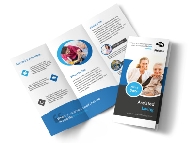 Assisted Living Tri-Fold Brochure Template preview