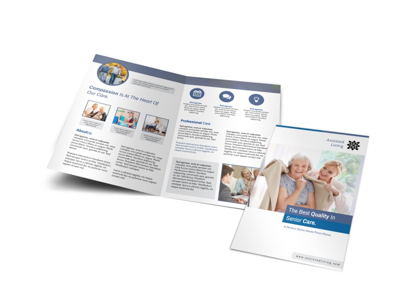 Clean Assisted Living Bi-Fold Brochure Template