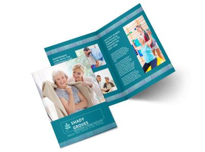 Assisted Living Service Bi-Fold Brochure Template preview