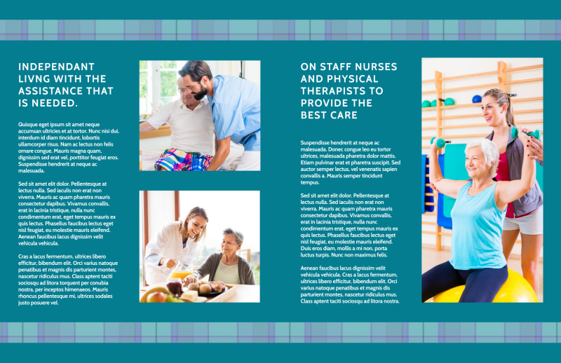 Assisted Living Service Bi-Fold Brochure Template Preview 3