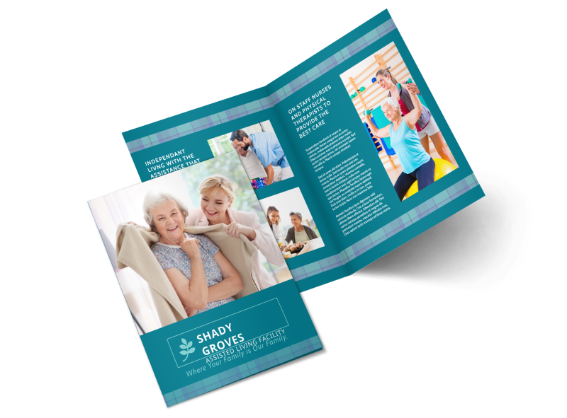 Assisted Living Service Bi-Fold Brochure Template Preview 1