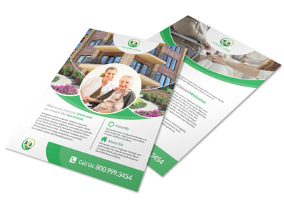 Awesome Assisted Living Flyer Template preview