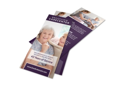 Assisted Living Carecenter Flyer Template preview