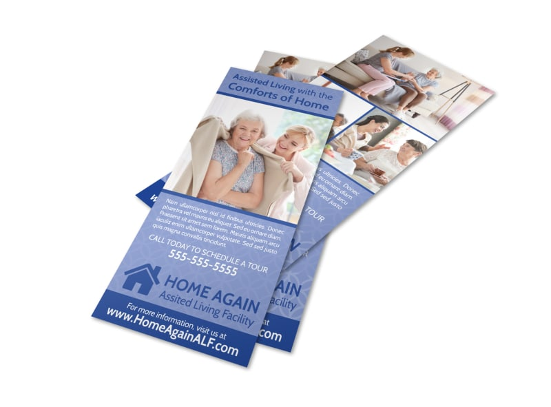 Home Assisted Living Flyer Template