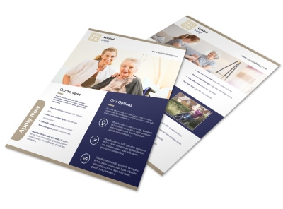 Quality Assisted Living Flyer Template preview