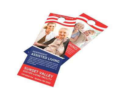 Independent Assisted Living Door Hanger Template preview