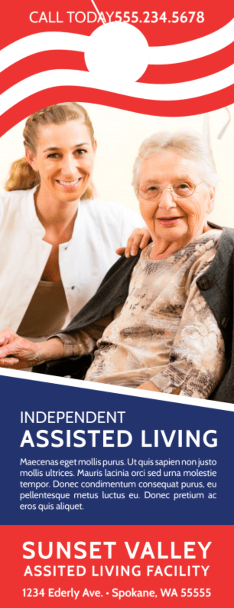 Independent Assisted Living Door Hanger Template Preview 2