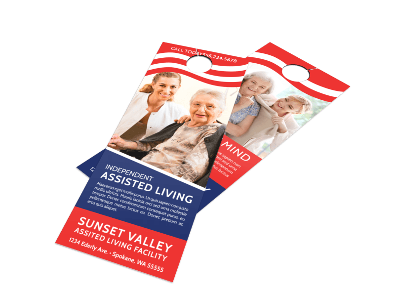 Independent Assisted Living Door Hanger Template Preview 1