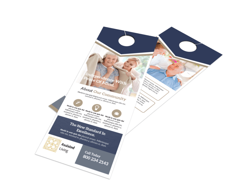Assisted Living Door Hanger Template Preview 1