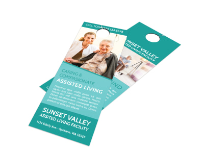 Sunset Assisted Living Door Hanger Template preview