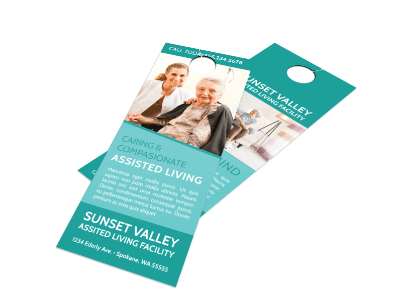 Sunset Assisted Living Door Hanger Template Preview 1