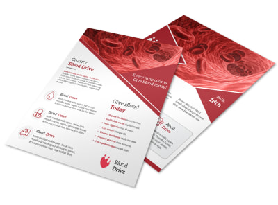 Charity Blood Drive Flyer Template preview