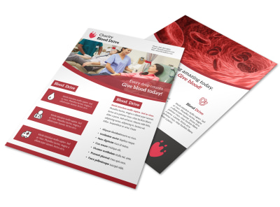 Give Blood Flyer Template preview
