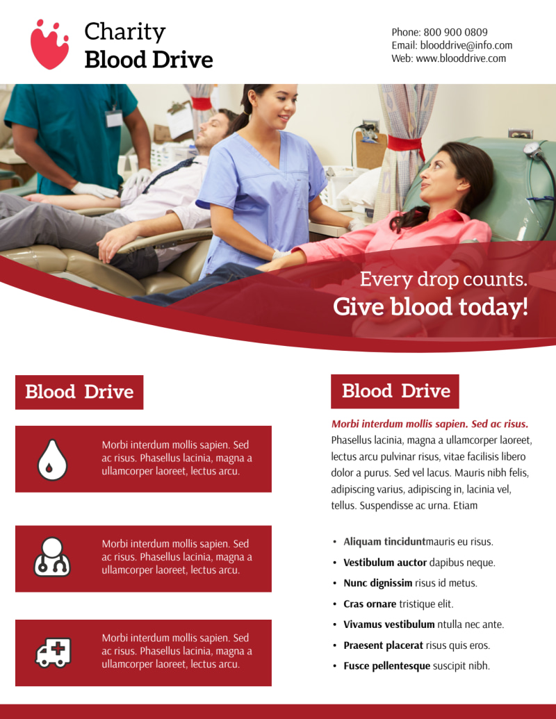 Give Blood Flyer Template Preview 2
