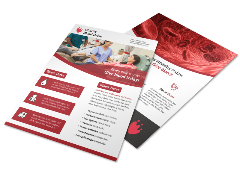 Give Blood Flyer Template Preview 1