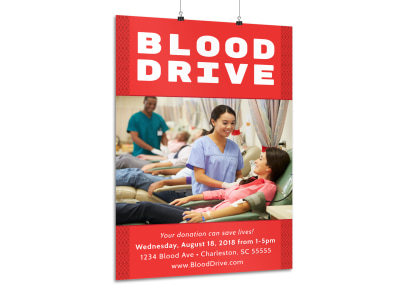 Blood Drive Poster Template preview