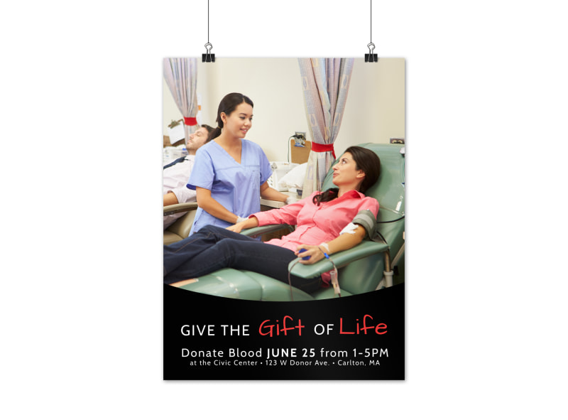 Gift Of Life Blood Drive Poster Template Preview 3