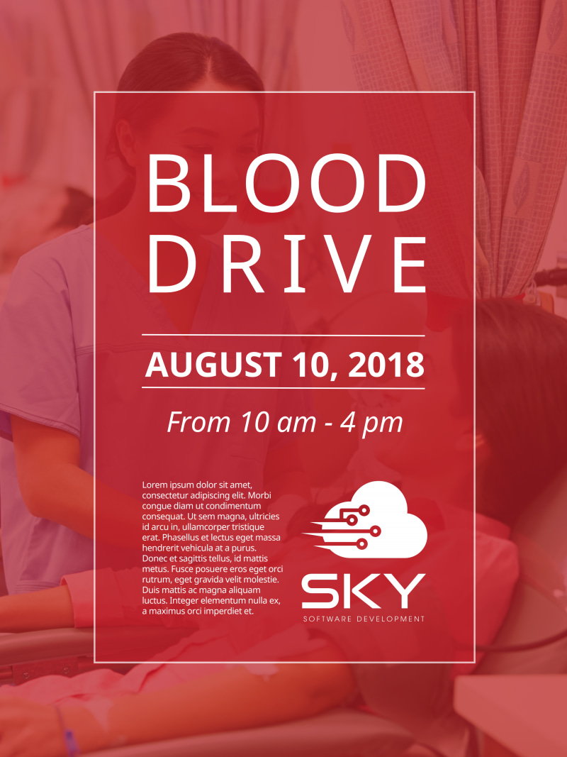 Blood Drive Event Poster Template Preview 2