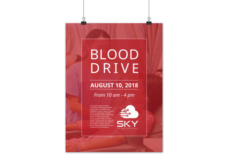 Blood Drive Event Poster Template Preview 1