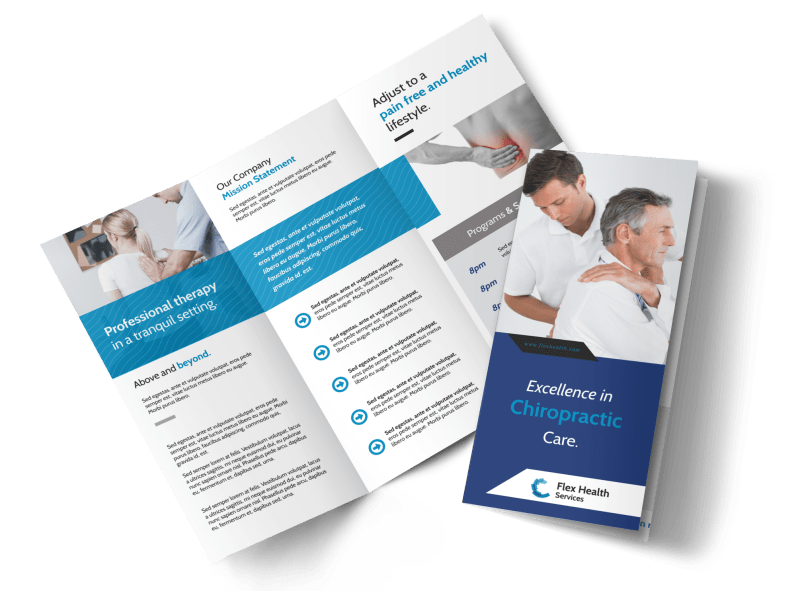 Chiropractic Care Tri-Fold Brochure Template Preview 1
