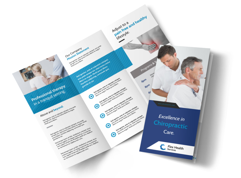 Chiropractic Care Tri-Fold Brochure Template Preview 4