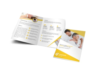 Yellow Chiropractic Bi-Fold Brochure Template