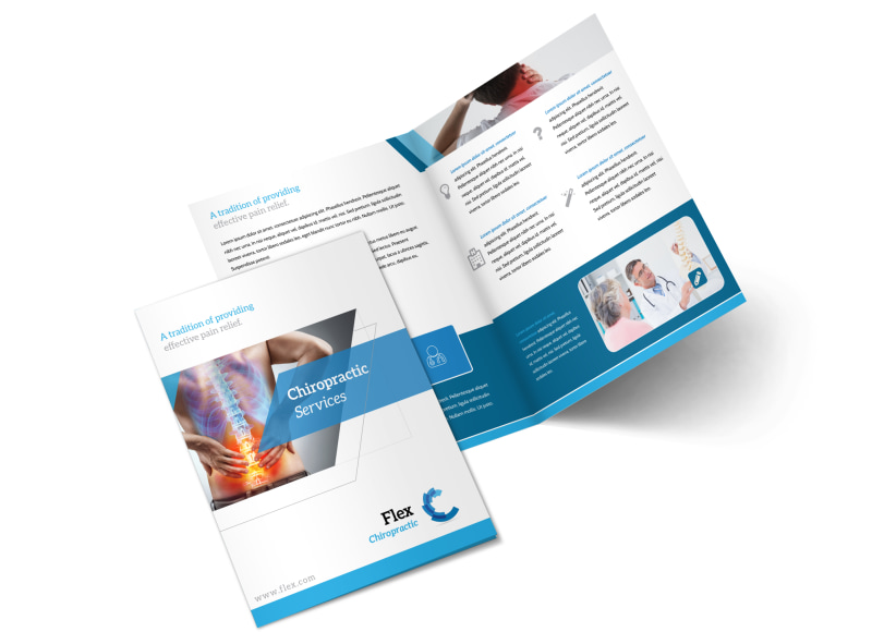 Chiropractic Services Bi-Fold Brochure Template Preview 4