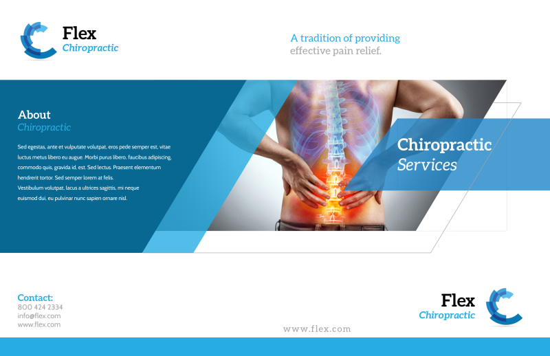 Chiropractic Services Bi-Fold Brochure Template Preview 2