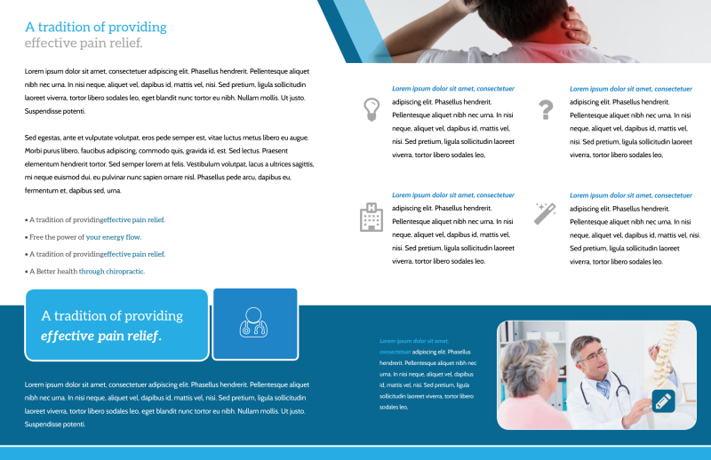 Chiropractic Services Bi-Fold Brochure Template Preview 3