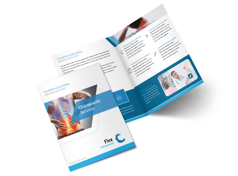 Chiropractic Services Bi-Fold Brochure Template Preview 1