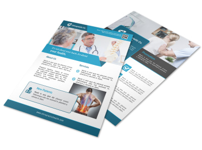 Blue Chiropractic Flyer Template preview