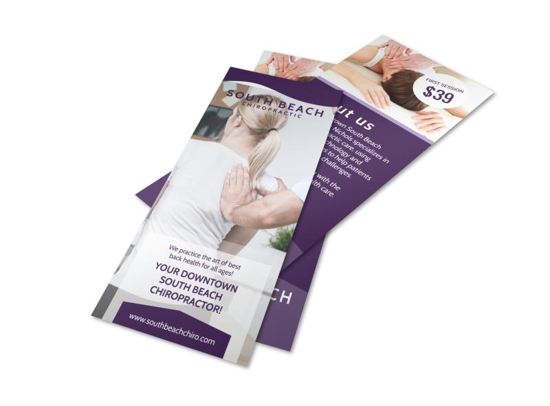 Chiropractic Flyer Template