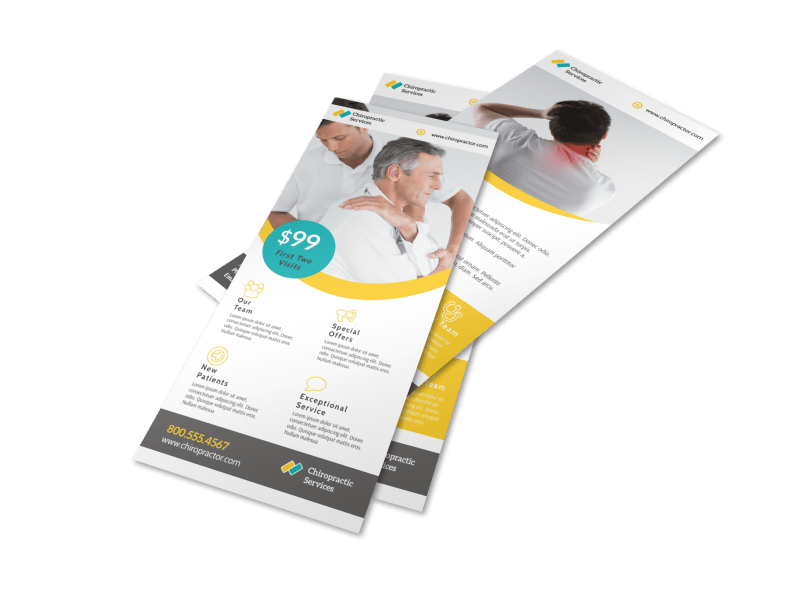 Professional Chiropractic Flyer Template Preview 1