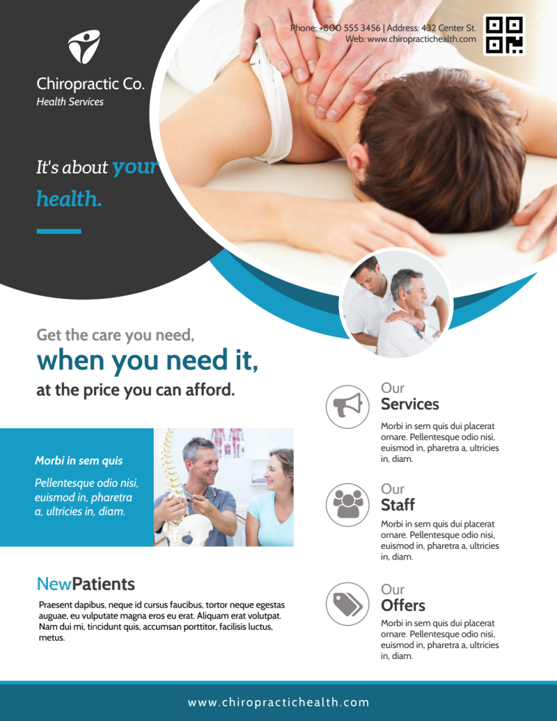Awesome Chiropractic Flyer Template Preview 2
