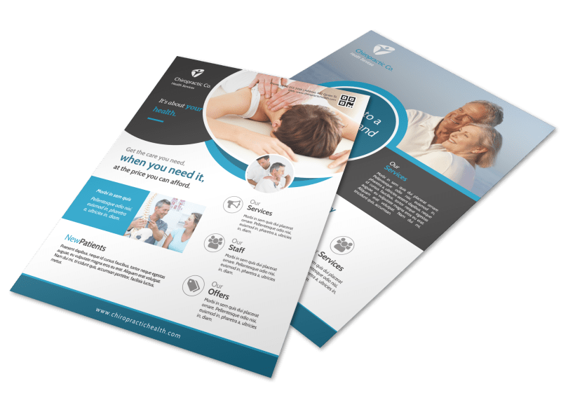 Awesome Chiropractic Flyer Template Preview 1