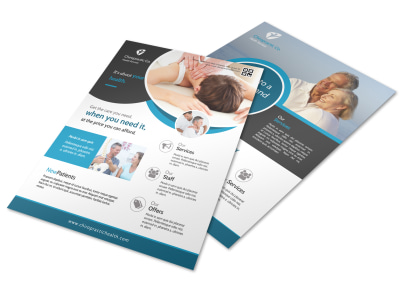 Awesome Chiropractic Flyer Template preview