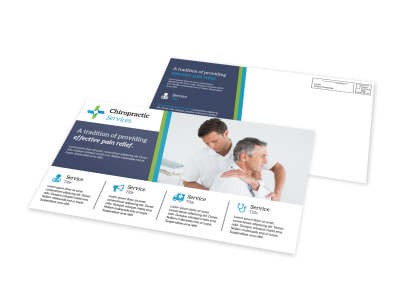 Chiropractic EDDM Postcard Template preview