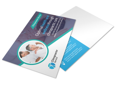 Chiropractic Wellness Postcard Template