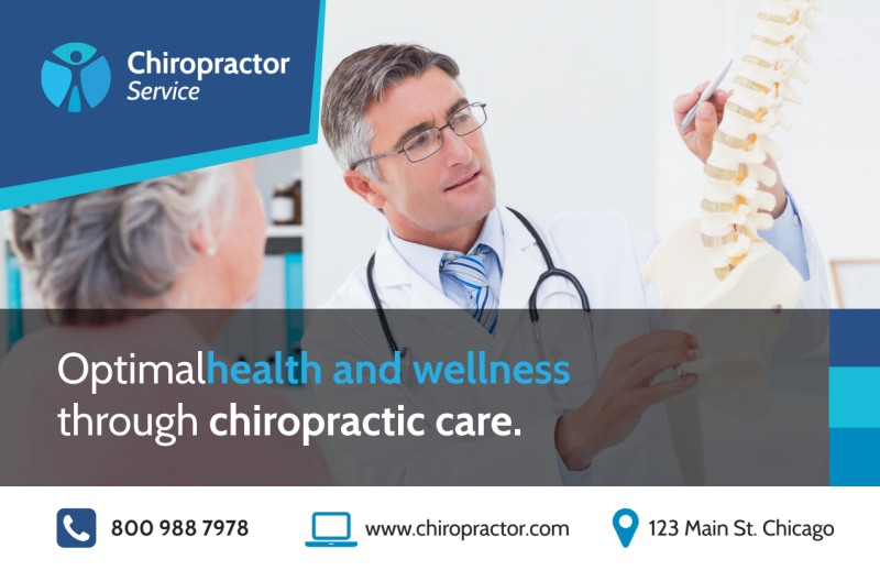 Chiropractic Care Postcard Template Preview 2