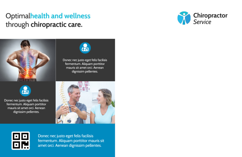 Chiropractic Care Postcard Template Preview 3