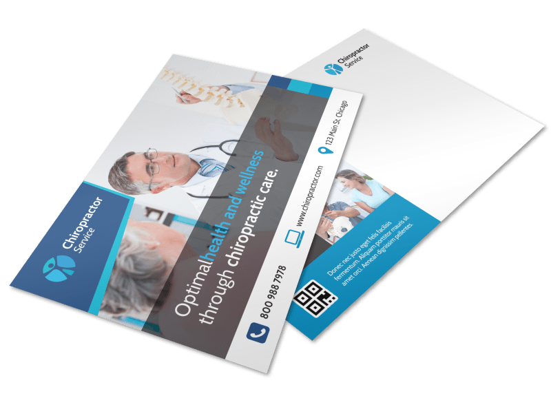 Chiropractic Care Postcard Template Preview 1