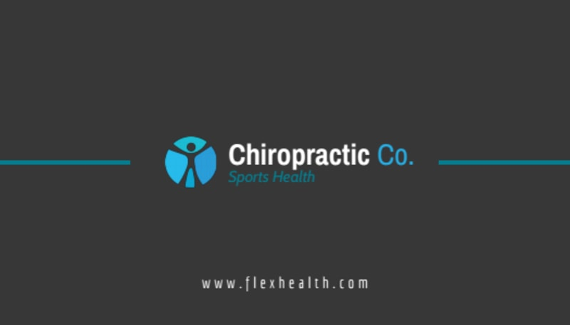 Black Chiropractic Business Card Template Preview 2