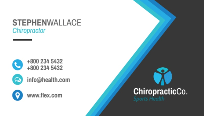 Black Chiropractic Business Card Template Preview 3