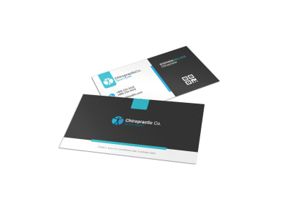 Clean Chiropractic Cards Business Card Template