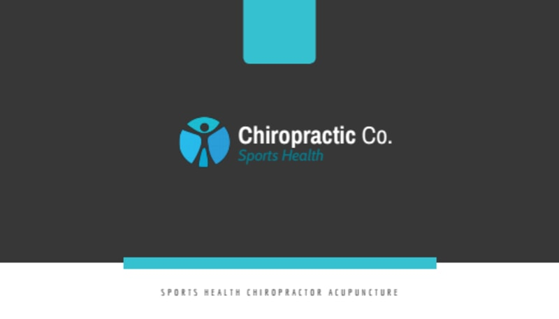 Clean Chiropractic Cards Business Card Template Preview 2