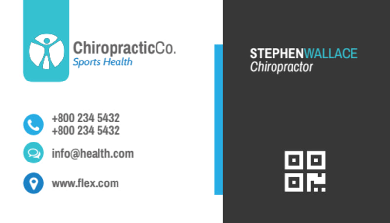 Clean Chiropractic Cards Business Card Template Preview 3