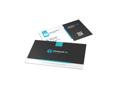 Chiropractic Business Cards Template Preview