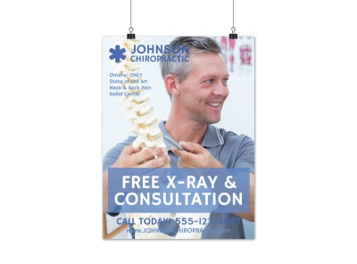 Chiropractic Consultation Poster Template